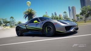 Porsche 918 Green - forza horizon 3 livery contests 29 community events forza