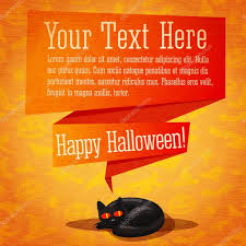 cute happy halloween background happy halloween cute retro banner or greeting card on craft paper