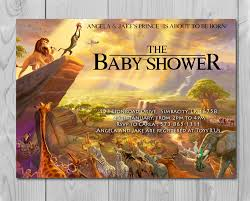lion king baby shower invitation jungle invitation disney invite