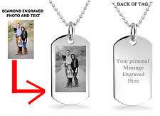 photo engraved necklace custom jewelry ebay