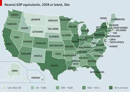 map us states world economies if they were countries the economist