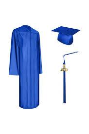 cap and gown for graduation shiny royal blue graduation cap gown tassel set high school