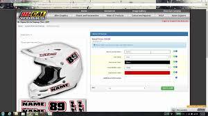 motocross helmet decals decal works helmet decals youtube