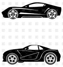 sports cars side view silhouettes of sport cars side view vector clipart image 86015