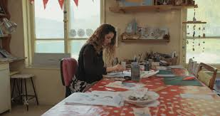 Designing An Art Studio Attractive Young Fashion Designer Woman Working At Home Studio