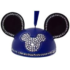 your wdw store disney ears ornament rhinestone mickey mouse