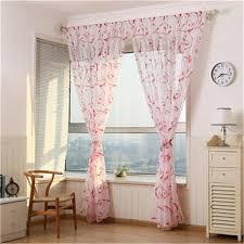 Retro Window Curtains Online Shop Flower Curtain Transparent Window Curtains Sheer