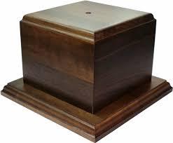Trophy Pedestal Genuine Walnut Cup Trophy Base 5 1 2