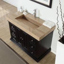 48 single sink bathroom vanity silkroad exclusive 48 inch integrated travertine stone grey single