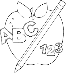abc border free clip art images coloring page wecoloringpage image