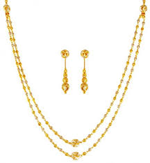 gold tone necklace set images 22k gold two tone necklace set ajns63283 us 1 202 22k gold jpg