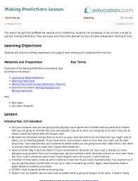 making predictions lesson lesson plan education com