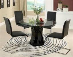 Round Glass Dining Room Table Sets Round Glass Kitchen Table Sets Foter