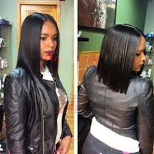 black hair weave part in the middle lace closure wig created and customized by foreignlove hair