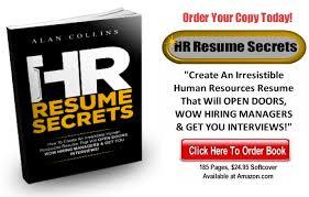director human resources resume hr resume secrets u2013 create an irresistible human resources resume
