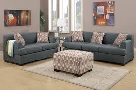 fabric sofas living room blue gray blended linen sofa