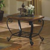 rosewood tall end table coffee brown slate oak topped end table with iron base home decorating with