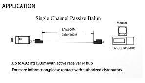 cctv utp cat5 rj45 ahd balun video audio power for camera passive
