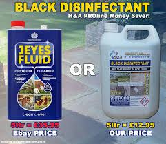 Jeyes Fluid Patio Cleaner by H U0026a Proline Black Disinfectant 5 Litre Bottles Amazon Co Uk