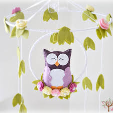 owl mobile woodland baby mobile from lullabymobiles on etsy