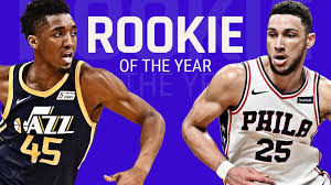 nba rookie of the year race battle between ben simmons donovan