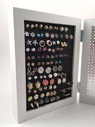 earring holder for studs earring holder white 5x7 frames hook stud earring