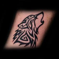 50 tribal wolf tattoo designs for men canine ink ideas