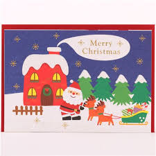 santa claus rocking chair glitter letter pop up