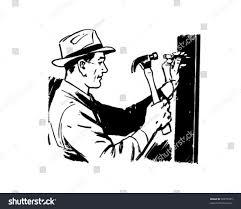 vintage martini clipart man hammering nail retro clip art stock vector 58879025 shutterstock