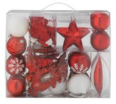 Christmas Bauble Storage Box Argos by Buy 48 Piece Homespun Bauble Pack Red And White At Argos Co Uk