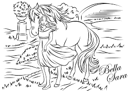 coloring pages of bella sara to download and print for free