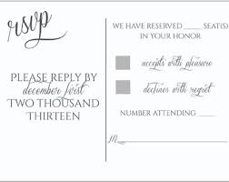 Sample Rsvp Cards Rsvp U0027s And Those Who Used