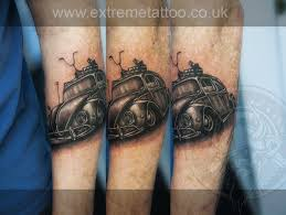 vw beetle tattoo sleeve in progress gabi tomescu extreme