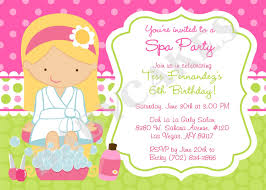 staggering spa birthday party invitations trends theruntime com