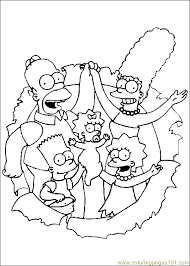 simpsons family coloring pages free printable coloring pages for