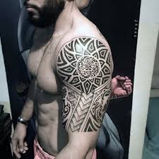 75 half sleeve tribal tattoos for masculine design ideas