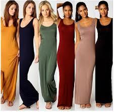women summer dress tank top ankle length long maxi dress ladies