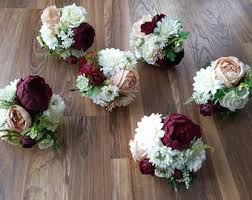 wedding flower arrangements silk flower bouquet etsy