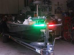 boat navigation light kit green blob outdoors boat bow led navigation light kit red green