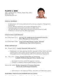 Resume For New Job by Cv Resume Sample For Fresh Graduate Of Office Administration