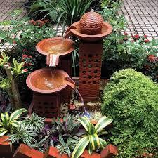 small outdoor water fountains backyard design ideas small