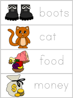 puss in boots word wall words