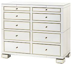 Bungalow 5 Nightstand Bungalow 5 Eaves Large 10 Drawer In Mirror Contemporary
