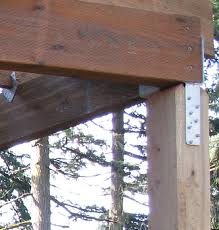 how to attach two beams at 45 degree angle on top of 4x4 post