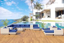 Wicker Patio Furniture San Diego by Metropolis White Outdoor Wicker Sectional Sofa Patio Furniture
