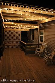 little house in the big d setting the mood with patio lights