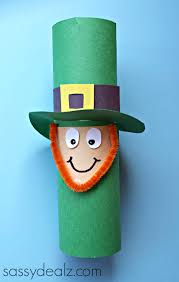 leprechaun toilet paper roll craft for st patrick u0027s day crafty