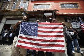 Mexican American Flag U S Military Veterans Deported To Mexico Say They Want To Come