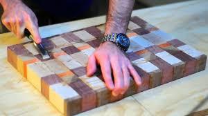 building a u0027butcher block u0027 end grain cutting board youtube