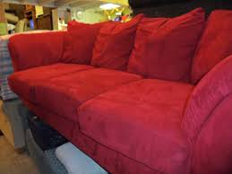 Red Sofa Furniture Suede Couch Upholstery Cleaning Central Coast Domestic